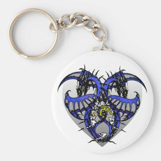 Blue Smoke Dragonheart Keychain