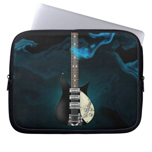 Blue Smoke Electric Guitar Electronics Bag Laptop Sleeve