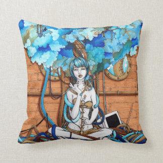 Blue Smoke Throw Pillows