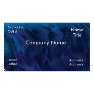 blue smoke swirls business card