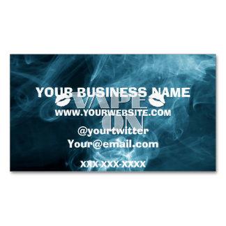 Blue Smoke Vape Lips Magnetic Business Card