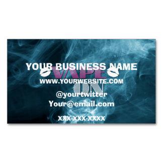 Blue Smoke Vape Pink Business Card Magnet