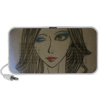 blue smokey eyed girl speaker