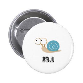 Blue Snail 13.1 (half marathon) Pinback Button
