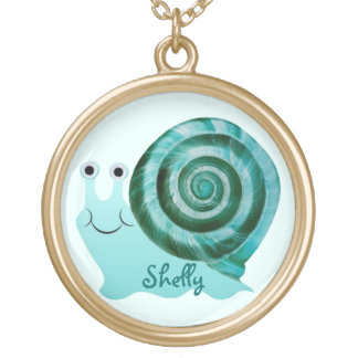 Blue Snail Gold Plated Necklace