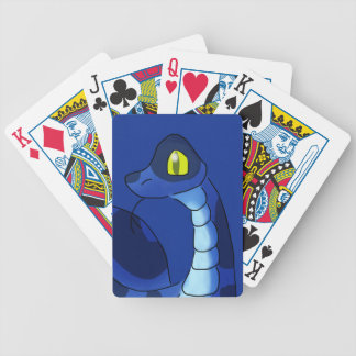 Blue Snake Bicycle Playing Cards