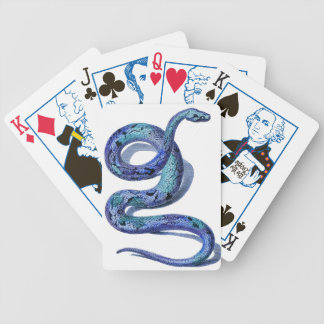 Blue Snake Election Vote Graphic Art Design Bicycle Playing Cards