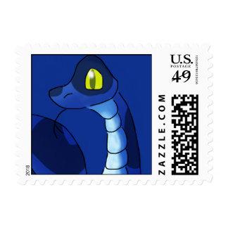Blue Snake Postage