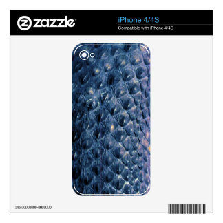 Blue Snake Scales Wildlife iPhone 4 Skin