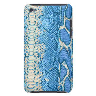 Blue Snake Skin iPod Touch Barely There Case #1
