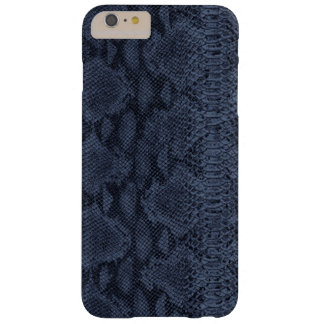 Blue Snake Skin Leather Barely There iPhone 6 Plus Case