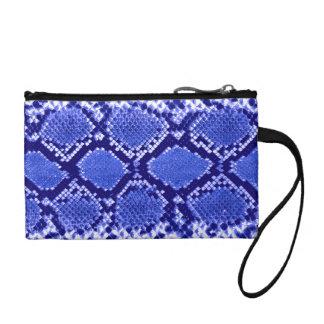 Blue Snakeskin pattern Change Purse