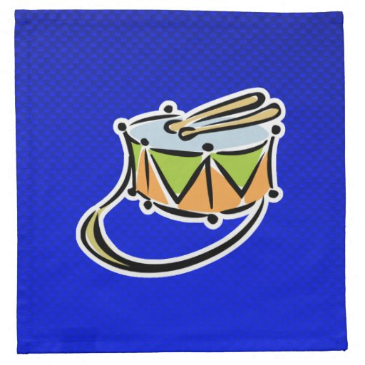 Blue Snare Drum Cloth Napkins