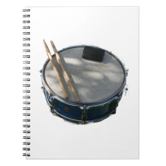 Blue Snare Drum Drumsticks and Muffler Notebook
