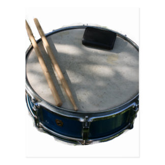 Blue Snare Drum Drumsticks and Muffler Postcard