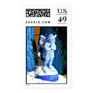 Blue Snow Angel Postage