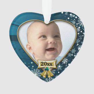Blue/Snow Baby's 1st Christmas Ornament
