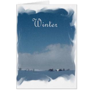 Blue Snow Day Card