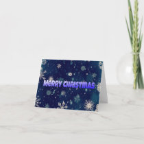 Blue snow effect Merry Christmas card