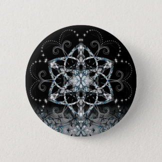 Blue Snow Flower Button