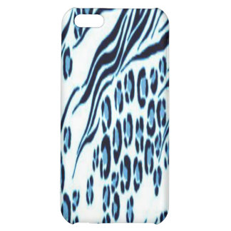 Blue Snow Leopard Stylish Trendy iPhone4 Case iPhone 5C Case