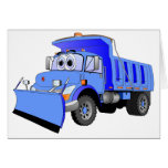 Blue Snow Plow Cartoon Cards