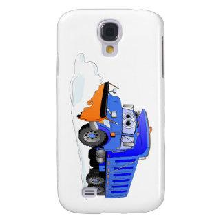 Blue Snow Plow Cartoon Dump Truck Samsung Galaxy S4 Case