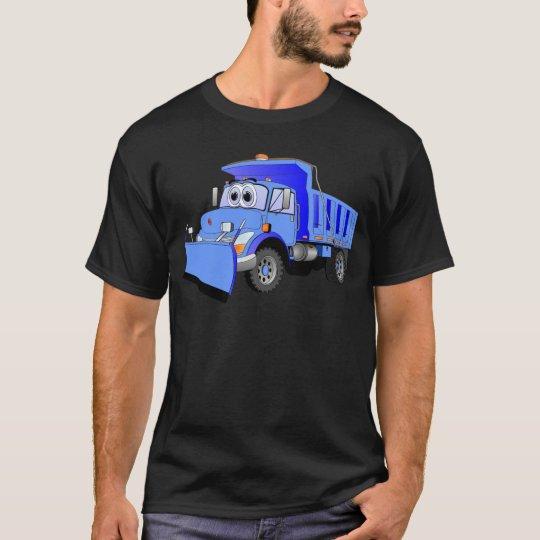 Blue Snow Plow Cartoon T-Shirt