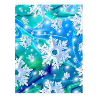 Blue Snow Postcard
