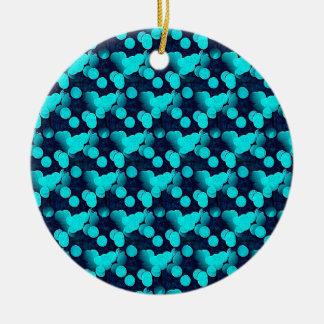 Blue Snow Round Hanging Ornament