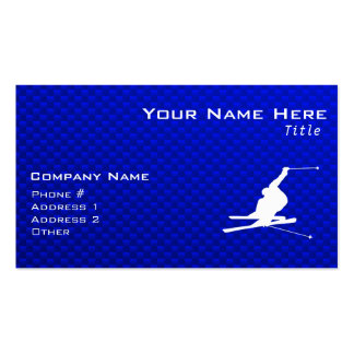 Blue Snow Skiing Double-Sided Standard Business Cards (Pack Of 100)