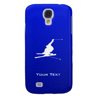 Blue Snow Skiing Galaxy S4 Cover
