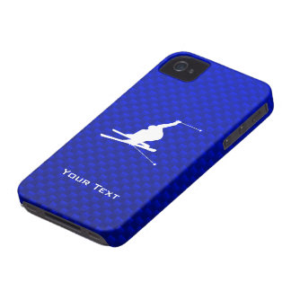 Blue Snow Skiing iPhone 4 Cover
