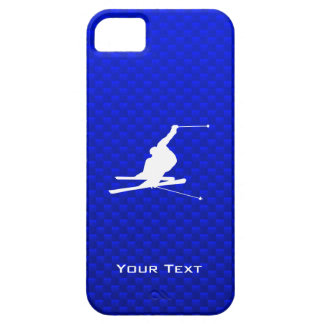 Blue Snow Skiing iPhone 5 Cover