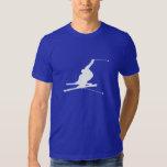 Blue Snow Skiing T Shirt