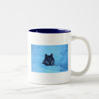 Blue Snow Timber Wolf Mug