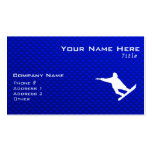 Blue Snowboarding Double-Sided Standard Business Cards (Pack Of 100)