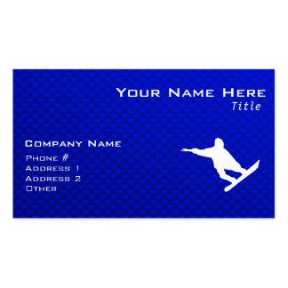 Blue Snowboarding Business Card Template