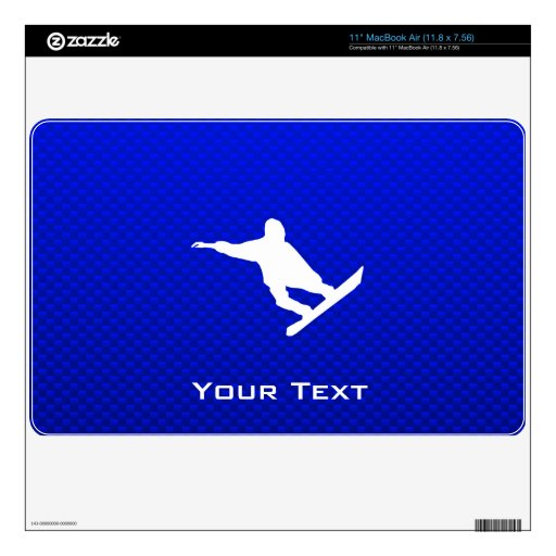 Blue Snowboarding Decals For MacBook Air
