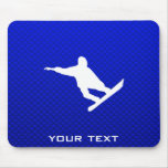 Blue Snowboarding Mouse Pad