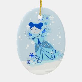 Blue Snowdoll Ornament
