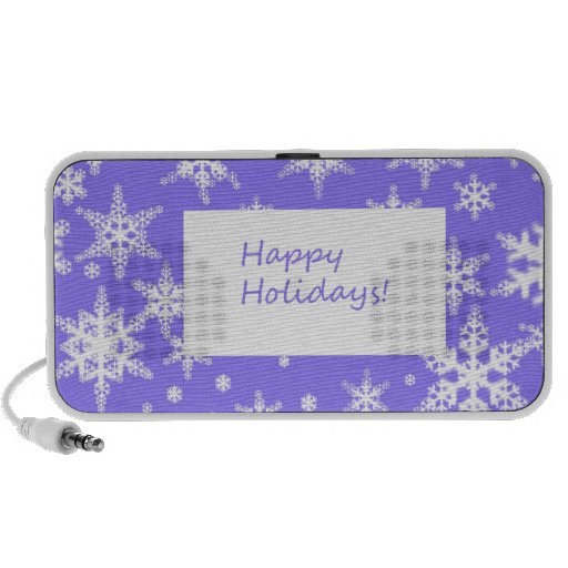 Blue Snowflakd Happy Holidays design Speaker