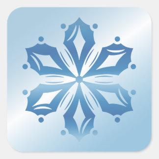 Blue Snowflake 2 Square Sticker
