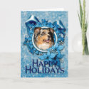 Blue Snowflake - Australian Shepherd card