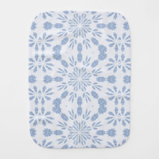 Blue Snowflake Baby Burp Cloths