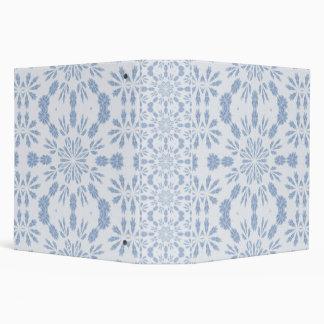 Blue Snowflake Binder