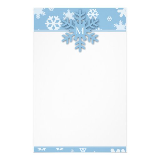Snowflake Border Template Blue snowflake border with