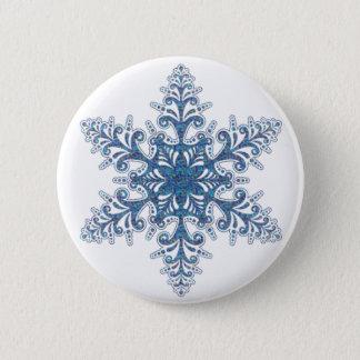 Blue Snowflake Button