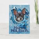 Blue Snowflake - Chihuahua - Isabella card