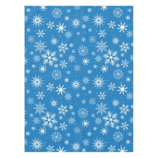 Blue Snowflake Christmas Design Tablecloth